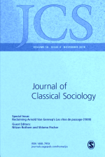 Journal of Classical Sociology Special Issue: Reclaiming Arnold Van Gennep's Les rites de passage (1909)