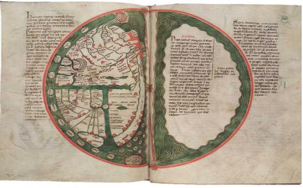 Liber Floridus, Wolfenbüttel, Cod. Gud. Lat I, fols. 69v-70r.